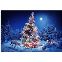 Diamond Embroidery Christmas Sets for Needlework Embroidery Santa Claus Diamond Painting cross stitch Moose Rhinestones Picture(China)