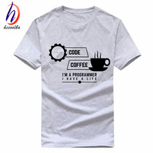 Euro Size,Men Programmer Print T shirt 2017 Summer Fashion Cotton T-shirt Homme Women Brand-Clothing Geek Funny Tee Shirts,GP002
