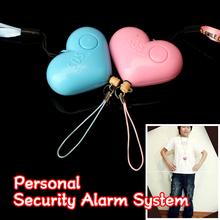 Hot sale Cute Heart Shaped Personal Travel Protection Outdoor Security Guard Alarm Bell Avoid Attack Random Color LCC77(China)
