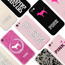 PINK Logo Brand NEW Candy Soft Silicon Case for iPhone 7 Victoria Fashion Design Phone Case Coque for iPhone 6s 6 Plus 5s SE