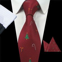 GUSLESON New Design Animal Tie Set For Fashion Men Quality Silk Tie Hanky Christmas Necktie Jacquard Woven Slim Tie For Wedding(China)