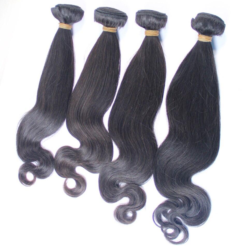 4Pcs Half Body Wavy Malaysian Virgin Hair Remy Malaysian Human Hair Bundles Deals, Natural Color Double Sewing Hair Wefts<br><br>Aliexpress