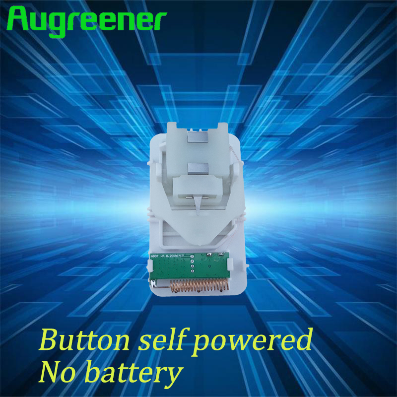 Augreener 433MHz Kinetic Wireless Doorbell No Battery AC 240V Home Door Bell 38 Ring Tones Waterproof High Quality Dingdong Ring