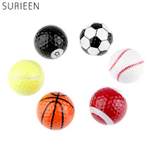 1Pc Novelty Funny Golf Balls 6 Kind Of Balls Pattern Golf Practice Balls Soccer Rugby Tennis Baseball Billiards Shape Golf Balls(China)