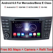 Octa Core Android 6.0 Tablet PC 1024*600 Car DVD Player For Mercedes/Benz E Class W211 W209 W219 GPS WIFI 3G 2GB RAM Head Unit