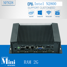Atom N2800 Fanless Embedded Computer digital multimedia computer system(China)