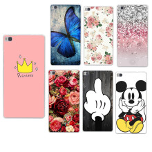 Soft TPU Case For Coque Huawei P8 LITE Case Christmas Back Cover For Funda Huawei Ascend P8 Lite 2017 P9 P10 Lite Y5 II 2 Case(China)