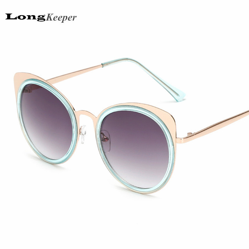 LongKeeper 2017 New Brand Design Sunglasses for Women Cat Eye Sun Glasses Sexy Eyewear Metal Frame UV400 lunette de soleil K1545<br><br>Aliexpress
