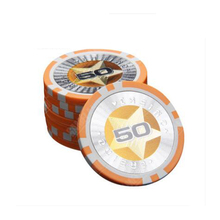 Wholesale Poker Chip Set 25Pcs Chips For Poker Texas Hold'em Value Casino Chips Iron+ PS  Clay Chips Jeton De Poker Game