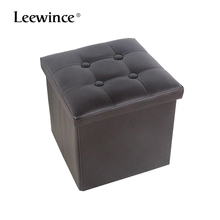 Storage Ottoman Folding Stool,Folding storage bench storage stool, pu leather clothes toy packing box sofa chair