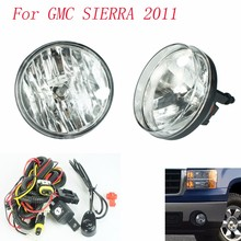 Fog light for GMC SIERRA 2011 fog lamps Clear Lens Bumper Fog Lights Driving Lamps / Daytime Running light