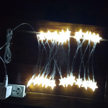 10m 80 LEDs Fairy String Curtain Light Outdoor Home Room Christmas Wedding Garden Party Decoration Holiday Lamp USB Power Supply