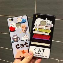 New Plastic Hard Cat Paint Case For Huawei P8 Lite P9 Lite Cute Shell Cover Coque For Huawei Honor 8 Huawei Nova Cases  C92