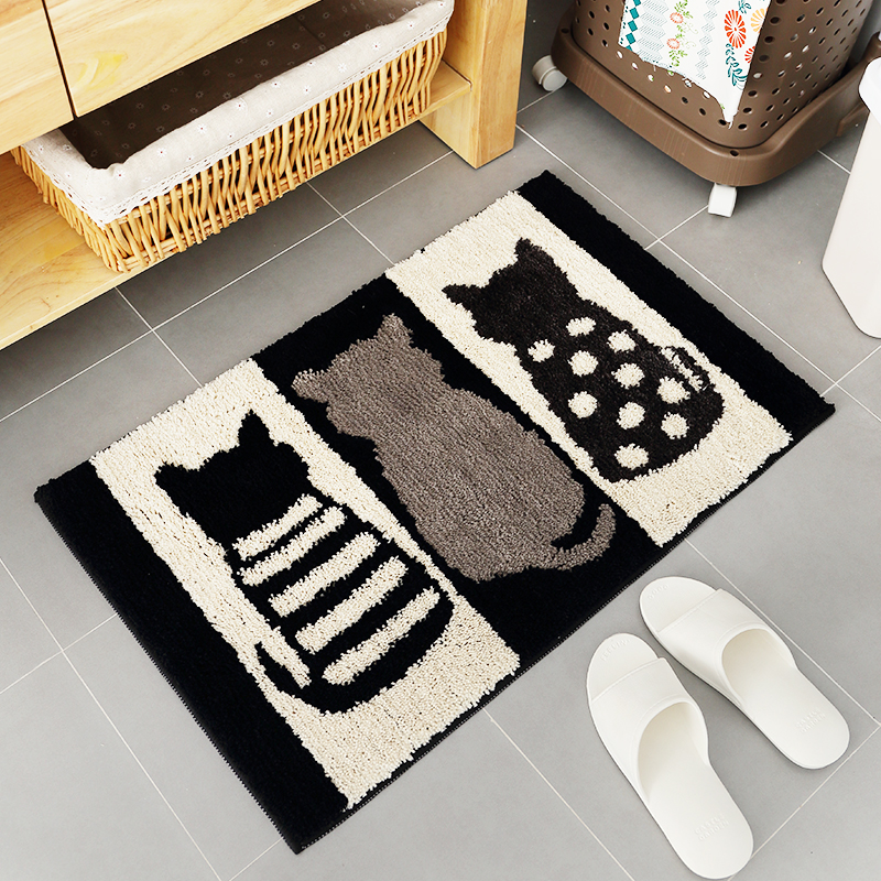 Cotton Chenille Shaggy Rug Handmade Soft Doormat Kids Children Rug Floral  Home Decorative Kitchen Bathroom Living Room Bed Room   Us828