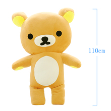 Low Price 110cm Relax Bear Skin Teddy Bear Skin Rilakkuma brinquedos Super For Girl Quality Girl's Gift Free Shipping Wholesale(China)