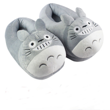 28cm Cartoon My Neighbor Totoro Bus Black charcoal Plush Adult Slippers Cosplay Soft Stuffed Shoes 11""