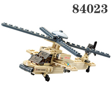 2017 Building Blocks Boeing USA Army AH-64 Apache helicopter gunships Learning School Education Christmas Gift brinquedos Toy