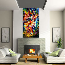 Magic Flamenco Abstract Paintings Musical Instruments Printed On Canvas Wall Decoration