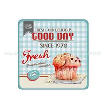 4Pcs/Lot Good Day Fresh Delicious Cupcake Pattern Cork Wood Berage Coaster Custom Fashion Table Drink Tea Cup Mat