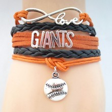 drop shipping fashion love Giant baseball bracelets charm love GIANT souvenir bracelets cheer up giant jewelry