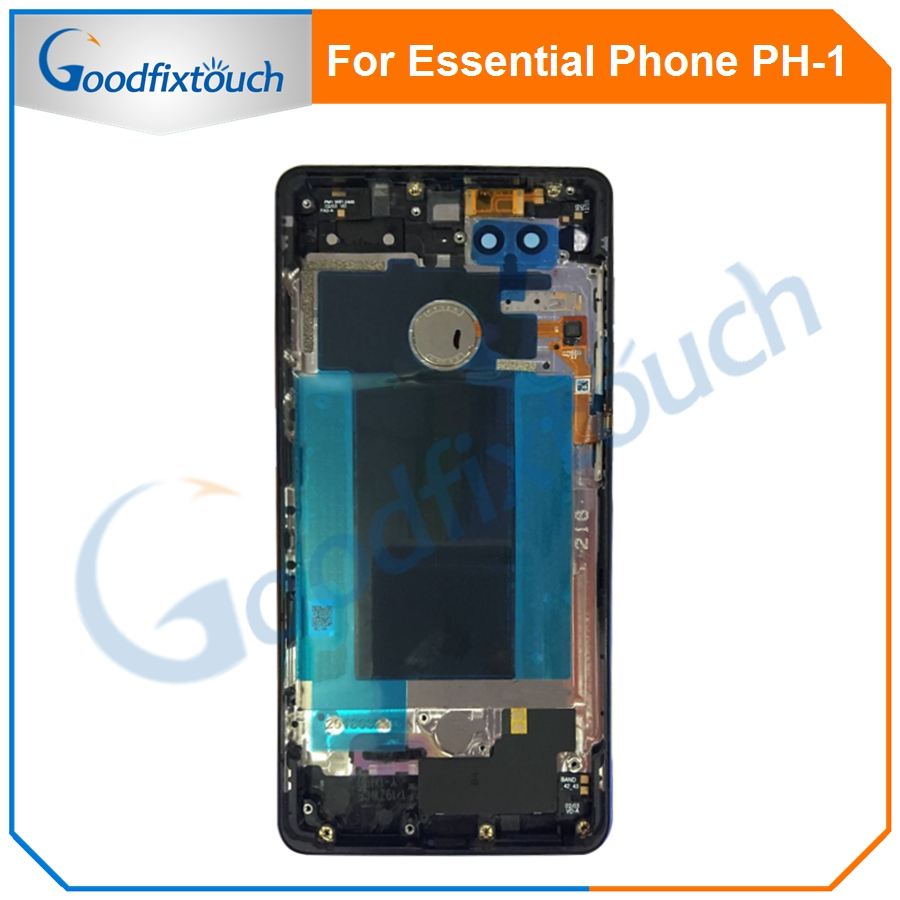 For Essential Phone Ph-1 PH 1 Rear Back Battery Cover Door Ceramics Glass Housing With Fingerprint Camera Glass Raplacement Part (1)