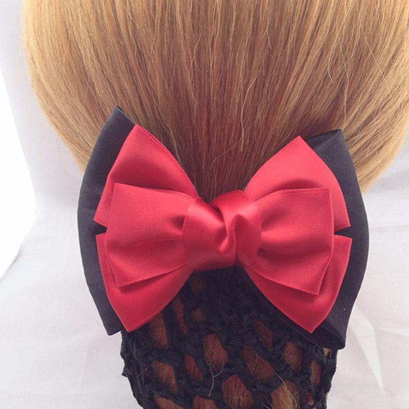 Mode Mädchen Kinder Bowknot Simulierenperle Dance Haarnetz Haarbänder 6 Farben Handmade Elastischen Seil Haarknoten Party Haar Maker Haar-accessoires Mutter & Kinder