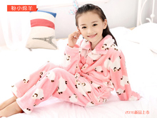 2016 New Flannel Nightgown Children's Soft Pajamas Sets Boys Girls Warm Home Wear Character Warm Tracksuit(China)
