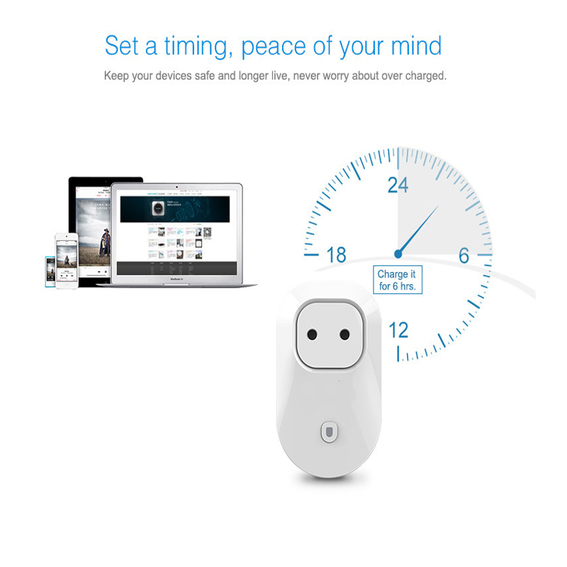 New  Home Automation EU//UK/AU/US Standard Smart Power Travel Socket Plug 4G/WiFi Remote Control Switch for Smartphones