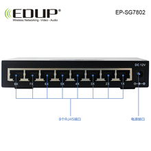 EDUP 8 port 10 / 100/1000M POE Switch network of compatible network cameras and wireless AP power IEEE 802.3af(15.4W)