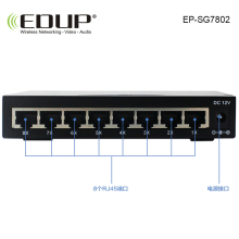 8 port 10/100/1000M POE Switch network of compatible network cameras and wireless AP power IEEE 802.3af with EU/US Power Adapter(China)