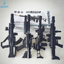 4PCS/LOT scale figures wargame miniatures weapons sniper plastic model kits scale models of gun model building physics toys
