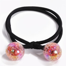 Colorful Resin Beads Elastic Hair Rubber Bands For Girls Women Ponytail Holder Rope Hair Accessories Summer Style