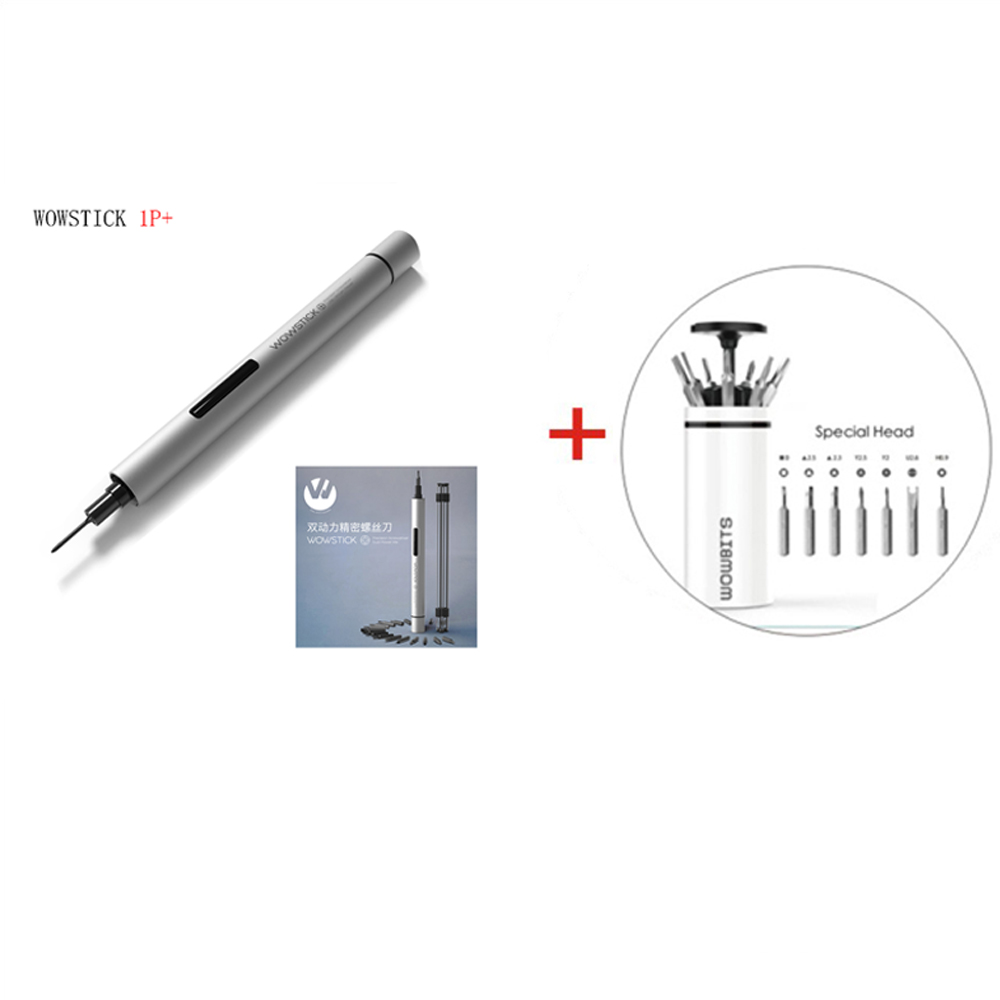 NEW Wowstick 1P 1FS Precision mini cordless electric screwdriver with 2 batteries for battery mobile phone Camera Repair Tools