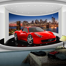 beibehang Custom Any Size 3D Sports Car Poster Photo Wallpaper Living Room Study Bedroom TV Background Wall Mural Wallpaper
