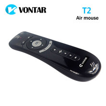 Original T2 Air Mouse 2.4G Wireless mini keyboard 3D Sense Motion remote controller T2 air mouse for Android Smart TV Box PC(China)