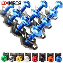 10PCS M5 Motorcycle Fairing Body Spring Bolts Nuts Spire Speed Fastener Clips Screw Scooters For Honda Yamaha Kawasaki BMW