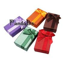 Christmas Valentines Day Gifts Boxes Packages Cardboard Ring Boxes, Rectangle, Mixed Color, 80x50x25mm