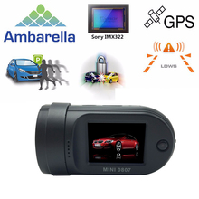 Mini 0807 Car DVR Camera DashCam Mini0807 G-sensor(Upgraded 0805) Amba A7LA50Chip+Parking Monitor+GPS+Dual CardsRecording+OBD-II