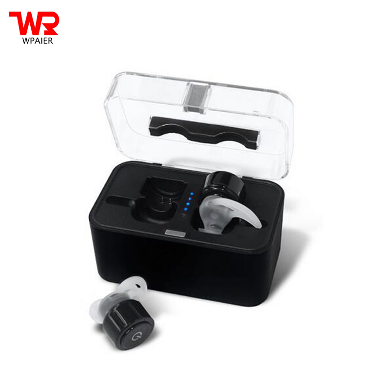 WPAIER TWS-S08 wireless Bluetooth headphones Separate mini headsets outdoor sport portable bluetooth earphones with charge box<br>