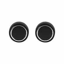 2x Rear Control Knobs Audio Radio Pair Set For Escalade Enclave Tahoe Chevrolet GMC High Quality Chrome