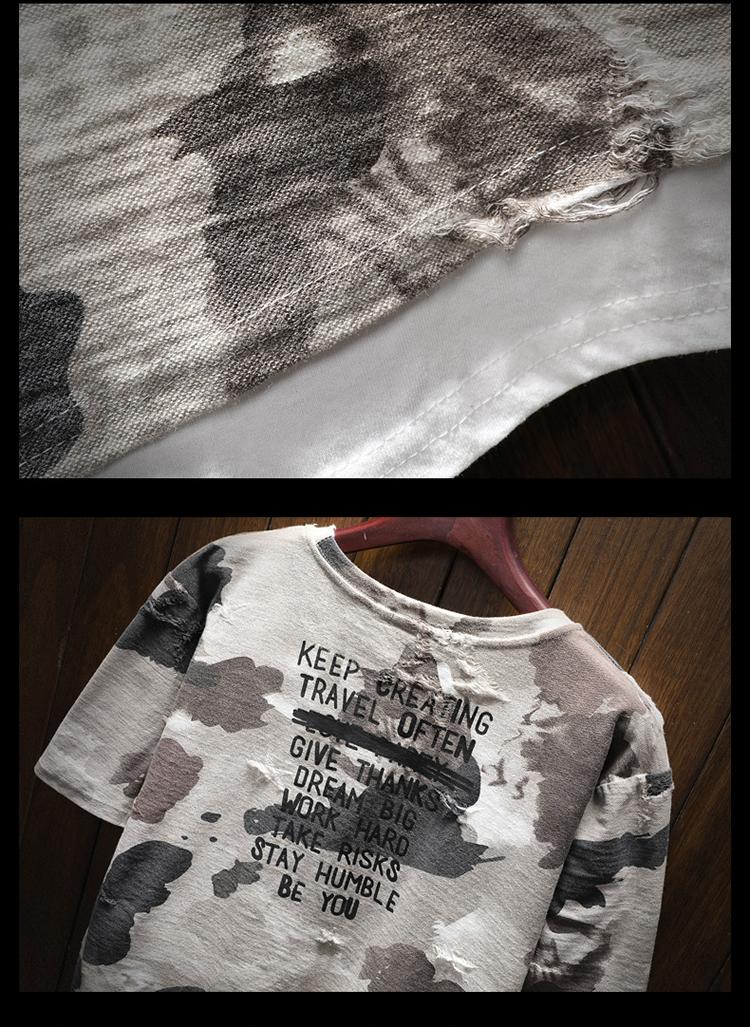 New arrival 2018 summer fashion letter print camouflage short sleeve t shirt for men men's military streetwear t-shirt DTX2 37 Online shopping Bangladesh