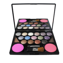 3 Different New fashion 15 Earth Color Matte Pigment Eyeshadow Palette Cosmetic Makeup+2 color eyebrow powder +2 color blush
