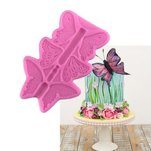 Silicone Mold Butterfly Fondant DIY Baking Pastry tools Cake Decorating Lace Border Bowknot Candy Sugarcraft Chocolate Bakery(China)