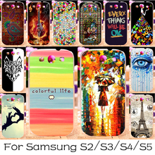 Silicone OR Plastic Mobile Phone Case For Samsung Galaxy I9300 I9500 I9600 S2 S3 S4 S5 GT-I9300 GT-I9500 G900 G900A Cover S3 Neo