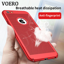 VOERO Ultra Slim Phone Case For iPhone 6 6s 7 Plus Hollow Heat Dissipation Cases Hard PC Back Cover For iPhone 7 6 Plus Coque(China)