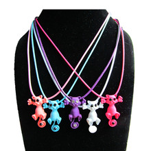 Kittenup 2016 New Multiple Color Fashion  Cute Cat Necklace Pendant For Women Kitten Jewelry Gift