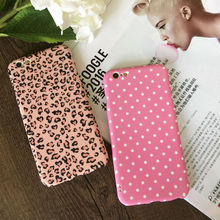 360 degree full protect phone case with 9H tempered glass For iPhone 6,6S,6plus,6Splus,7,7plus hard PC pink  leopard pattern