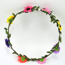 haimeikang Daisy Floral Head Wreath DIY Garland Headdress Rings  Girls Flower Wreath Headpiece Girls Flower Garland Headpiece