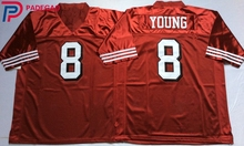 Embroidered Logo Steve Young 8 red black throwback high school FOOTBALL JERSEY for fans gift cheap 1106-7(China)