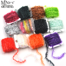 MNFT 10 Color 100m/Lot Fly Fishing Tinsel Chenille Crystal Flash Line Rig Bait Making Assorted Fly Tying Streamer Flies Material